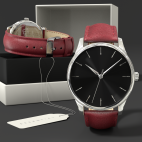 Orologio su misura personalizzabile con cinturino di pelle