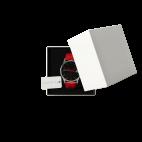 Orologio foto personalizzato con cinturino di pelle